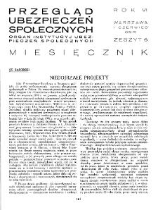 Przegląd Ubezpieczeń Społecznych : 1931, nr 6