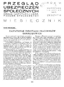 Przegląd Ubezpieczeń Społecznych : 1931, nr 8