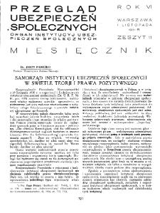 Przegląd Ubezpieczeń Społecznych : 1931, nr 11