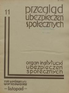 Przegląd Ubezpieczeń Społecznych : 1932, nr 11