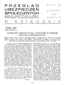 Przegląd Ubezpieczeń Społecznych : 1933, nr 2
