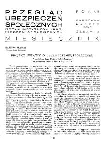 Przegląd Ubezpieczeń Społecznych : 1933, nr 3