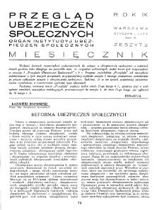 Przegląd Ubezpieczeń Społecznych : 1934, nr 2