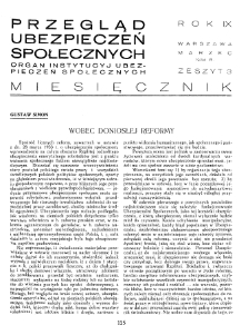 Przegląd Ubezpieczeń Społecznych : 1934, nr 3