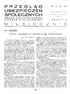 Przegląd Ubezpieczeń Społecznych : 1934, nr 4