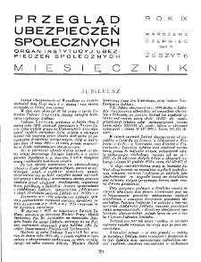Przegląd Ubezpieczeń Społecznych : 1934, nr 6