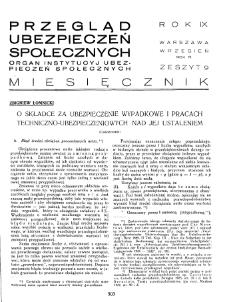 Przegląd Ubezpieczeń Społecznych : 1934, nr 9