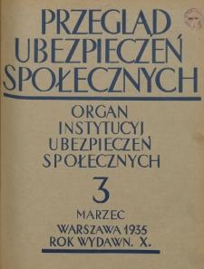 Przegląd Ubezpieczeń Społecznych : 1935, nr 3