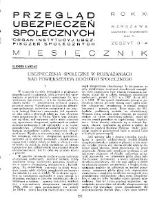 Przegląd Ubezpieczeń Społecznych : 1936, nr 3-4