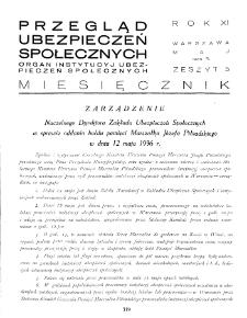 Przegląd Ubezpieczeń Społecznych : 1936, nr 5