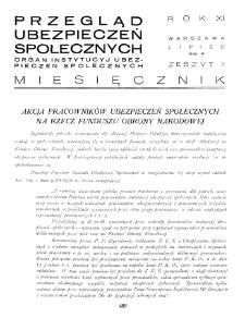 Przegląd Ubezpieczeń Społecznych : 1936, nr 7