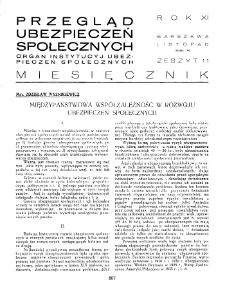 Przegląd Ubezpieczeń Społecznych : 1936, nr 11
