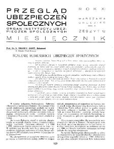 Przegląd Ubezpieczeń Społecznych : 1936, nr 12