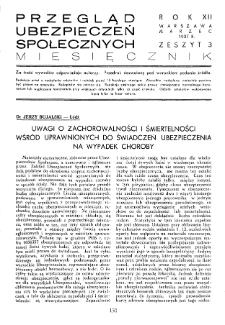 Przegląd Ubezpieczeń Społecznych : 1937, nr 3