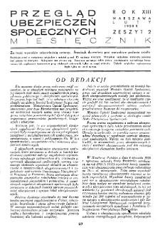 Przegląd Ubezpieczeń Społecznych : 1938, nr 2