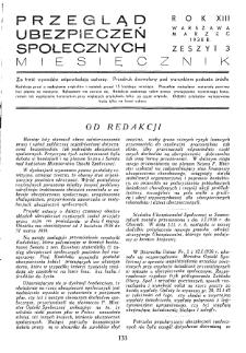 Przegląd Ubezpieczeń Społecznych : 1938, nr 3