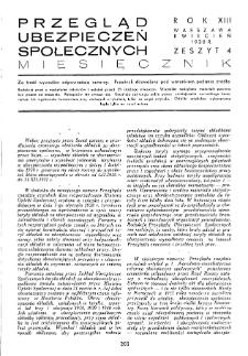 Przegląd Ubezpieczeń Społecznych : 1938, nr 4