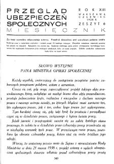Przegląd Ubezpieczeń Społecznych : 1938, nr 6