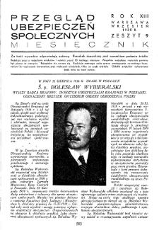 Przegląd Ubezpieczeń Społecznych : 1938, nr 9