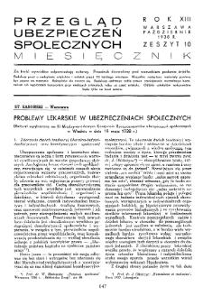 Przegląd Ubezpieczeń Społecznych : 1938, nr 10