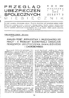 Przegląd Ubezpieczeń Społecznych : 1939, nr 2