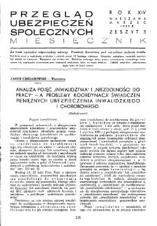 Przegląd Ubezpieczeń Społecznych : 1939, nr 3