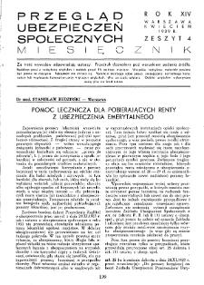 Przegląd Ubezpieczeń Społecznych : 1939, nr 4