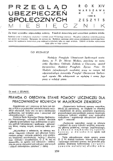Przegląd Ubezpieczeń Społecznych : 1939, nr 5
