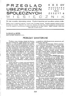 Przegląd Ubezpieczeń Społecznych : 1939, nr 6