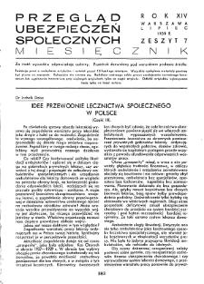 Przegląd Ubezpieczeń Społecznych : 1939, nr 7