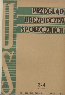 Przegląd Ubezpieczeń Społecznych : 1948, nr 3-4