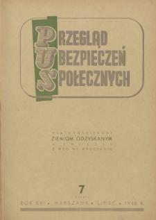 Przegląd Ubezpieczeń Społecznych : 1948, nr 7