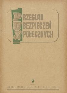 Przegląd Ubezpieczeń Społecznych : 1948, nr 9
