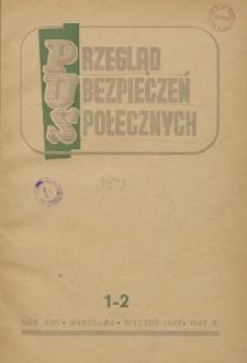 Przegląd Ubezpieczeń Społecznych : 1949, nr 1-2
