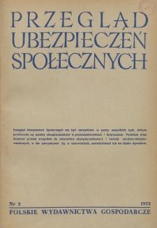 Przegląd Ubezpieczeń Społecznych : 1953, nr 2