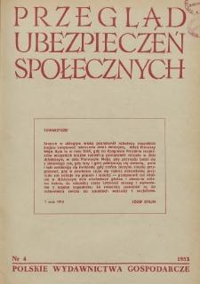Przegląd Ubezpieczeń Społecznych : 1953, nr 4