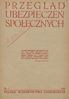 Przegląd Ubezpieczeń Społecznych : 1953, nr 7