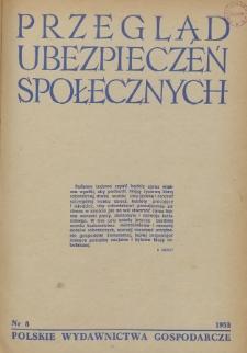 Przegląd Ubezpieczeń Społecznych : 1953, nr 8