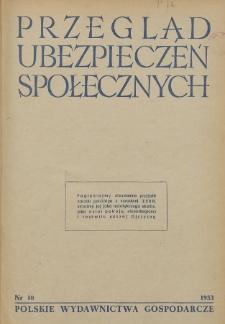 Przegląd Ubezpieczeń Społecznych : 1953, nr 10