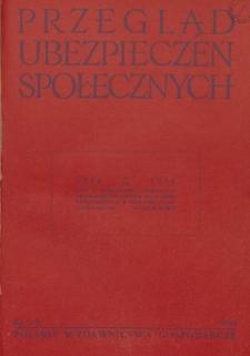 Przegląd Ubezpieczeń Społecznych : 1954, nr 7-8