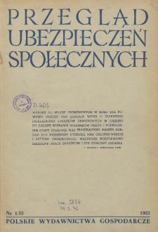 Przegląd Ubezpieczeń Społecznych : 1955, nr 1