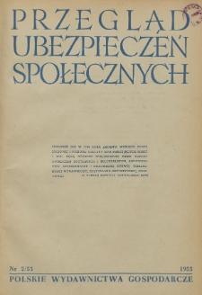 Przegląd Ubezpieczeń Społecznych : 1955, nr 2