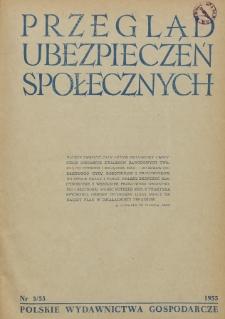 Przegląd Ubezpieczeń Społecznych : 1955, nr 3