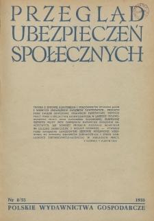 Przegląd Ubezpieczeń Społecznych : 1955, nr 8