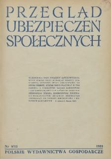 Przegląd Ubezpieczeń Społecznych : 1955, nr 9