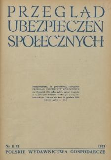 Przegląd Ubezpieczeń Społecznych : 1955, nr 11