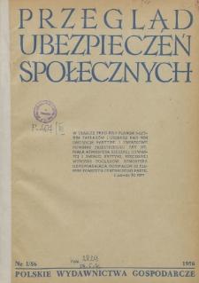 Przegląd Ubezpieczeń Społecznych : 1956, nr 1