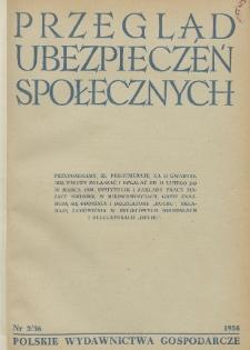 Przegląd Ubezpieczeń Społecznych : 1956, nr 2