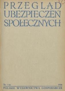 Przegląd Ubezpieczeń Społecznych : 1956, nr 7