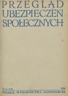 Przegląd Ubezpieczeń Społecznych : 1956, nr 8-9
